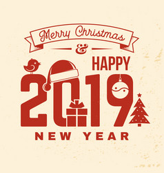 We wish you a very merry christmas and happy new vector