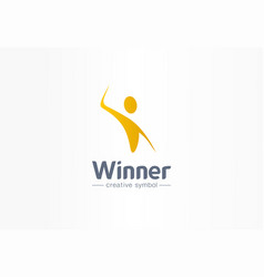 winner happiness creative symbol concept vector image
