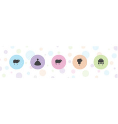 Wool icons vector