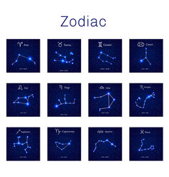 Zodiac constellations set vector