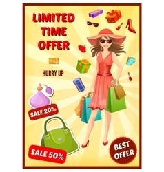 Best Offer In Shop Poster vector image vector image