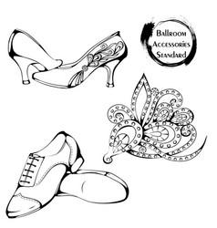 dance line ballroom standard accessories vector image vector image