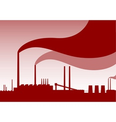 red factory vector image vector image