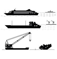 Set Ships vector image