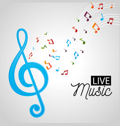 Banner for the concert live music vector