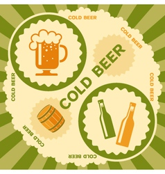 Beer label design vector image vector image