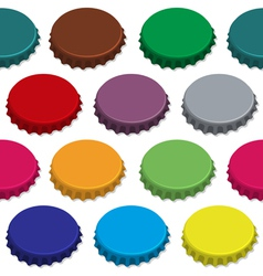 bottle caps seamless background pattern vector image vector image