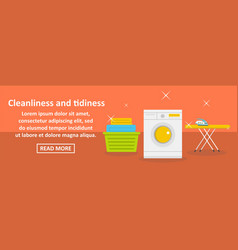 cleanliness and tidiness banner horizontal concept vector image