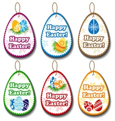 Easter label set vector image vector image