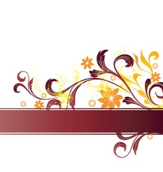 floral graphic banner vector image vector image
