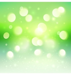 Green shining bokeh effect background vector image vector image