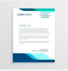 modern letterhead design with clean blue shapes vector image vector image
