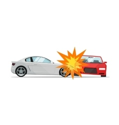 Car crash two automobiles vector image