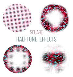 colorful halftone circles vector image