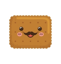 cookie kawaii dessert cute sweet food icon vector image vector image