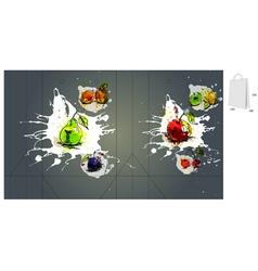 fruit bag packaging vector image vector image