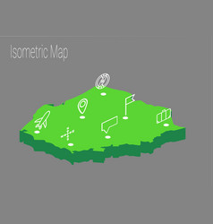 map poland isometric concept vector image vector image