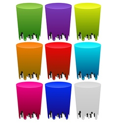 Melting colors on white vector image