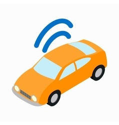 Car wi-fi icon isometric 3d style vector