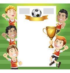 Children Soccer Scoreboard vector image