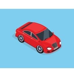 Flat 3d Isometric High Quality Sedan Automobile vector image vector image