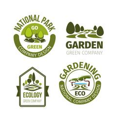 green park or garden design icons vector image vector image