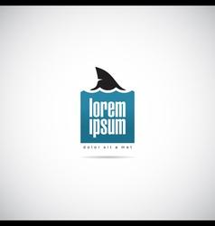 Shark of business logo template vector
