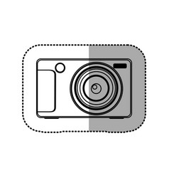 Silhouette technologic digital camera icon vector
