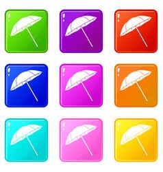 Umbrella set 9 vector