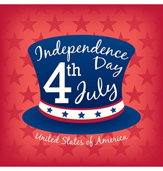 4th of july Independence day hat vector image