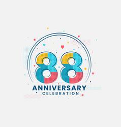 88 anniversary celebration modern 88th vector