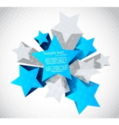 abstract background with star vector image vector image