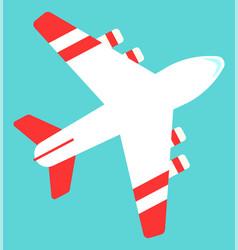 air transport international tech plane vector image
