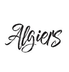 Algiers text design calligraphy vector