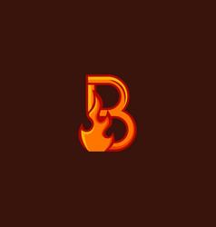 B fire logo vector