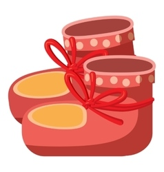Baby socks icon cartoon style vector image