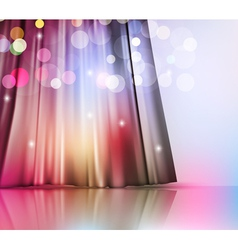Background with theatre curtain vector