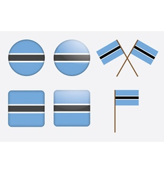 badges with flag of Botswana vector image