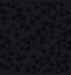 black low poly background vector image