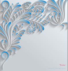 Blue Abstract Floral 3d Background vector
