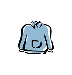 blue sweater for men isolated hand drawn clo vector image