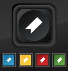 bookmark icon symbol Set of five colorful stylish vector image