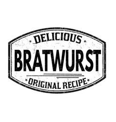 bratwurst grunge rubber stamp vector image