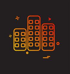 building icon design vector image