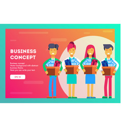 business concept new dream team vector image