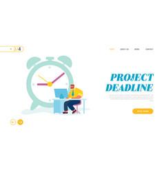 Businessman working process website landing page vector