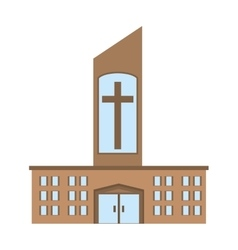 Catholic church building icon design vector