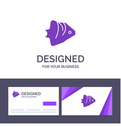 creative business card and logo template fish vector image