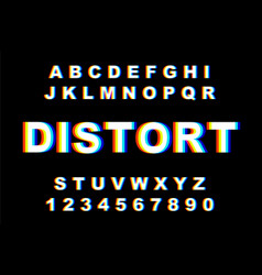 Distorted glitch font vector