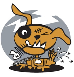 Dog fleas vector